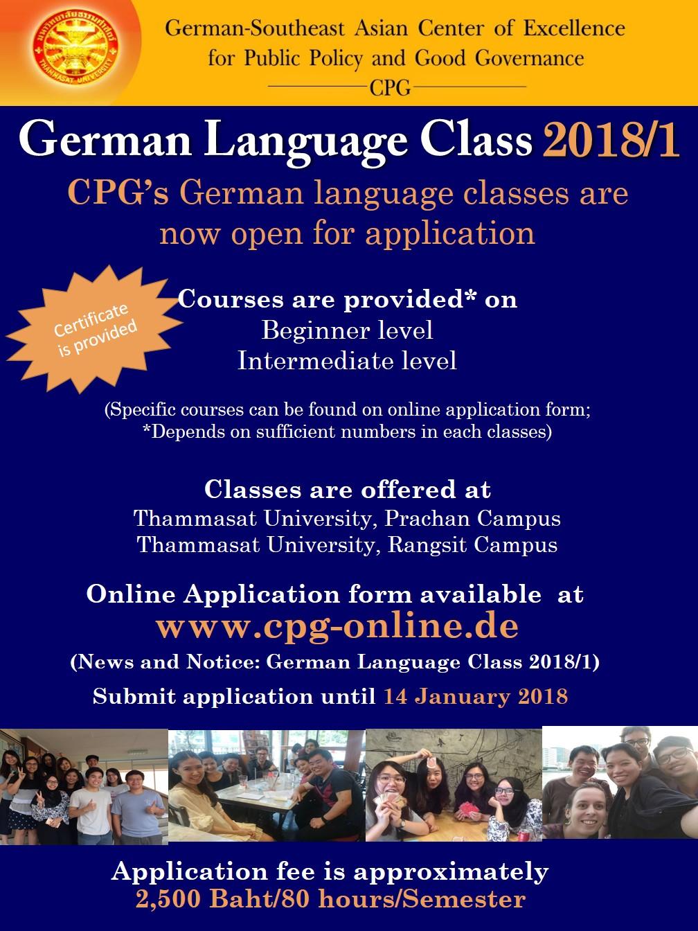 Cpg German Language Classes 2018 German Southeast Asian Center Of