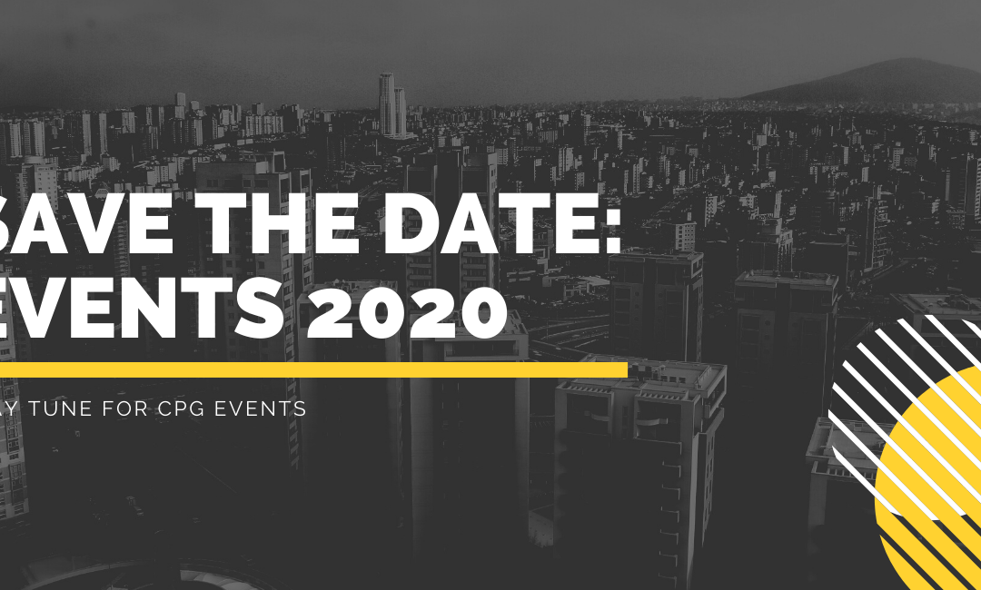 Save the Date: Events 2020